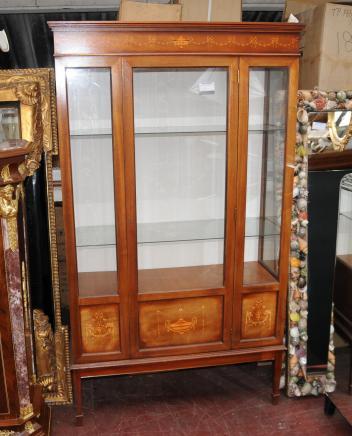 Sheraton Regency Display Cabinet Bookcase Bijouterie Inlay