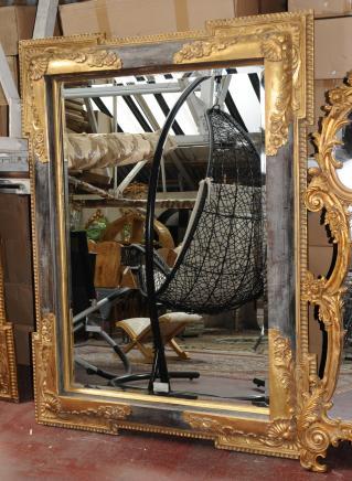 XL viktorianischen Gilt Pier Spiegel Architectural Spiegel Glas