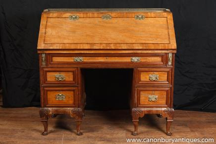 Antique Georgian Gentlemens Bureau Desk Mahogany Desks