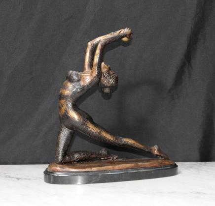 Bronze Art Deco Ball Dancer Figurine Statue