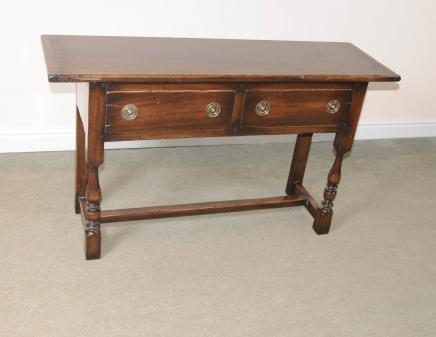 English Tudor Oak Dresser Base Buffet Sideboard Server