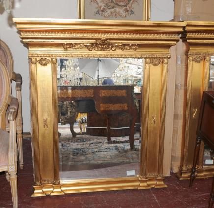 Large Regency Gilt Pier Mirror Glass Column Mirrors