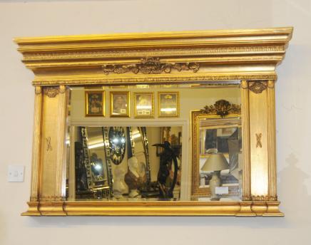 Regency Gilt Pier Mirror Mirrors Glass Mantle Classical