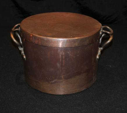 Antique Copper Pot à couvercle Bol Pan anglais