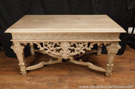 Baroque italien sculpté Console Tables Tableau Hall Classic
