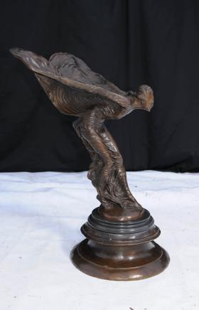Bronze Art Nouveau volant Figurine Statue Lady
