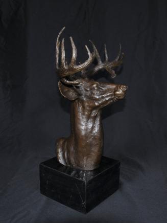 Bronze écossais Stag Buste de Moose Deer Stags Elk