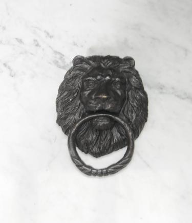 Bronze Lions Head Lion Heurtoir de porte casting