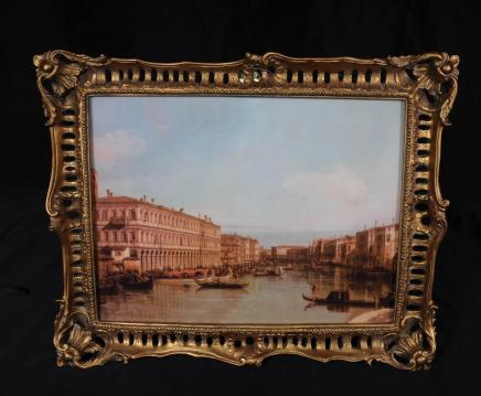 Italienne Peinture à l'huile de Venise Canaletto Paysage vénitien Art