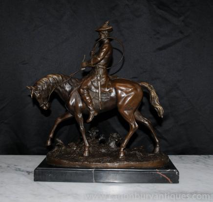 PJ Mene français Bronze Figurine Statue équestre Hunter Signé