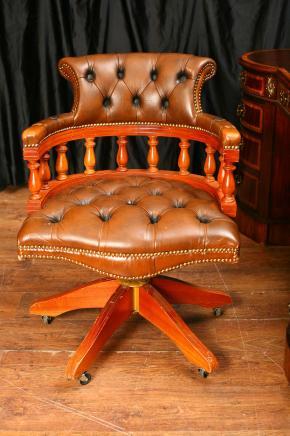 Кожа Рабочее кресло Поворотный Капитаны ванна сиденья Офисная мебель