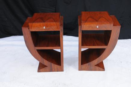Пара Art Deco Таблицы Ночной Nightsands Мебель для спальни