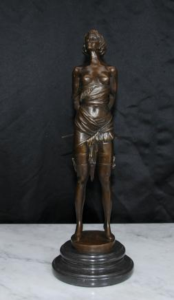 Dominatrix Erotic Bronze Figurine Statue by Bruno Zach Miss Whiplash