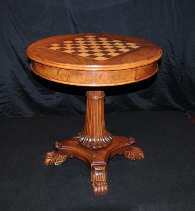 丽晶核桃游戏棋桌边桌