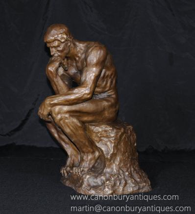 法国大型青铜铸造罗丹的思想者