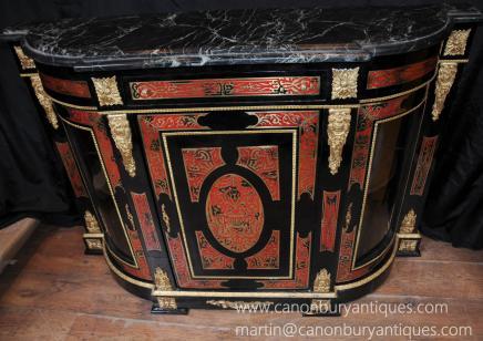 法国布勒镶嵌餐具柜餐柜路易十五家具