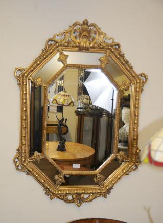 法国路易十五鎏金码头镜玻璃镜