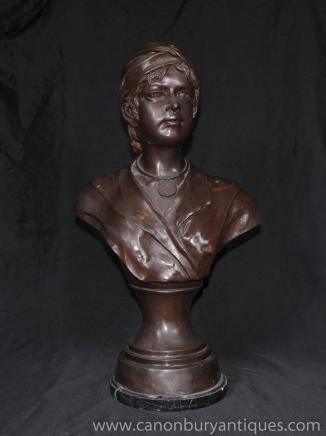 维多利亚女王时代的青铜半身像年轻的海盗雕像铸造
