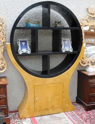 装饰艺术风格的书柜核桃20世纪20年代的老式家具书柜