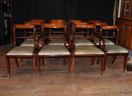 设置12英语摄政绳返回餐椅