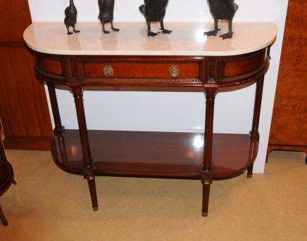 French Louis XV Walnut Console Table Buffet Server Sideboard