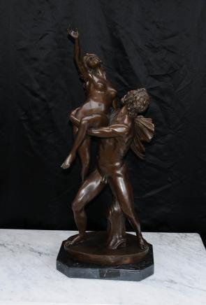 Italian Sabine Roman Myth Female Figurine Bronze Statue
