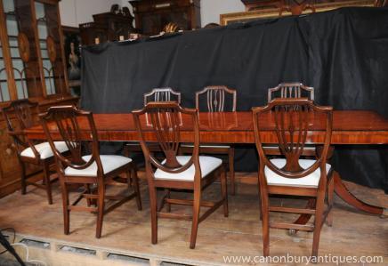 Regency Обеденный набор Стол Стул Suite 8 Shieldback Стулья
