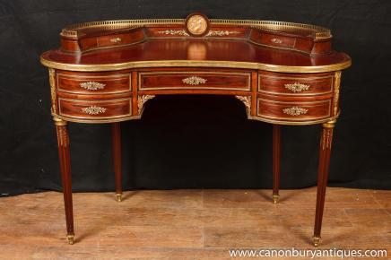 Antique French Empire Desk Kidney Bean Desks 1885