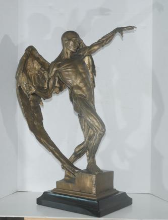 Large Bronze Statue Lucifer Satan Devil Figure Male Nude Art