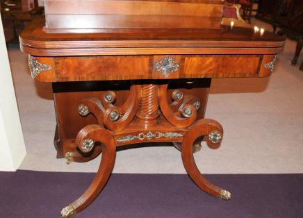 Mahogany Regency Card Table Occassional Side Cocktail Tables