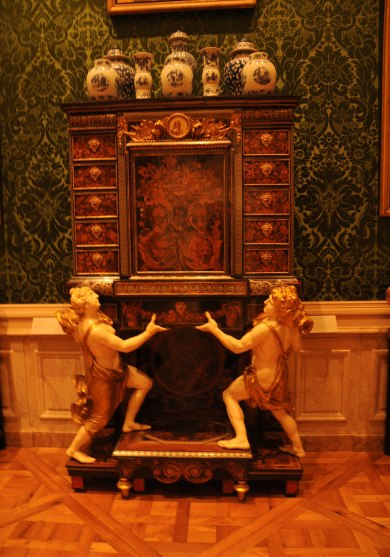 Antique Cabinet on Stand by Boulle