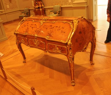 Antique Double Desk Bernard Van Risenburgh at The Getty