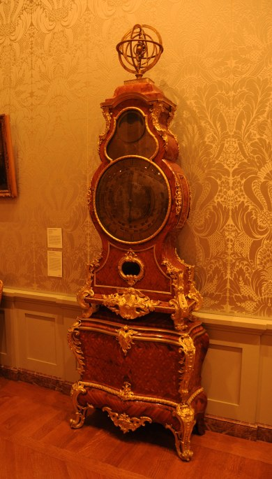 Antique Planishere Clock at Case by Jean-Pierr Latz at The Getty