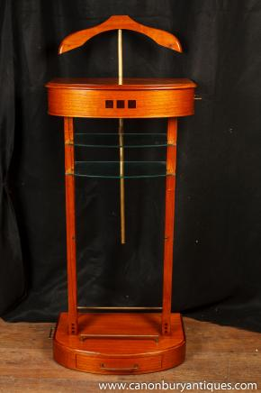 Art Deco Valet Stand Butler Satinwood