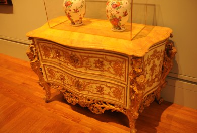 French Antique Commode by Francois de Cuvillies carving by Joachim Dietrich at The Getty