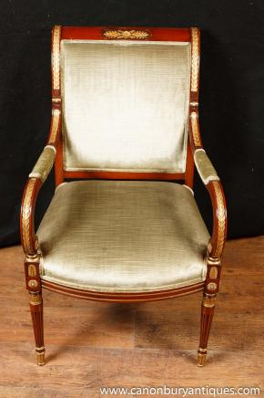 French Empire Arm Chair Fauteil Chairs Interiors Furniture