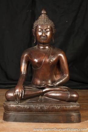 Large Bronze Tibetan Buddha Statue Sculpture Garden Art Buddhism Buddhist