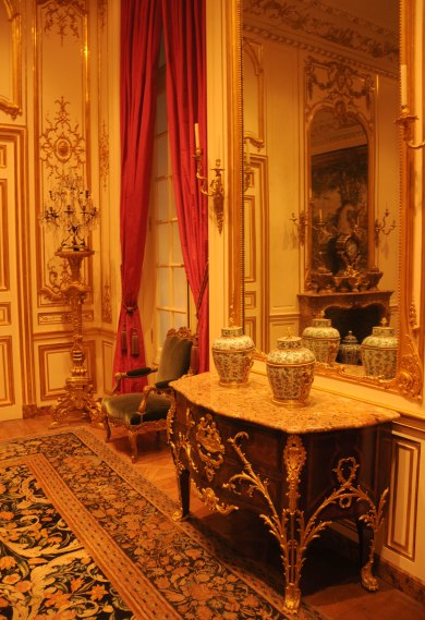 Louis XIV Commode in Regence Interior at The Getty