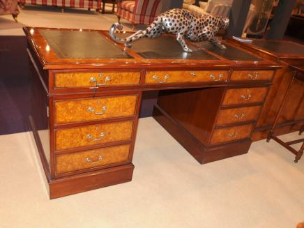 Regency Desk Walnut Pedestal Desks Office Furniture