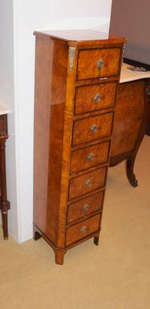 Regency Walnut Lingerie Commode Chest Drawers Tall Boy