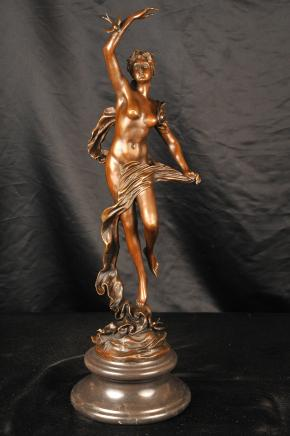Art Nouveau Bronze Swallow Figurine Moreau