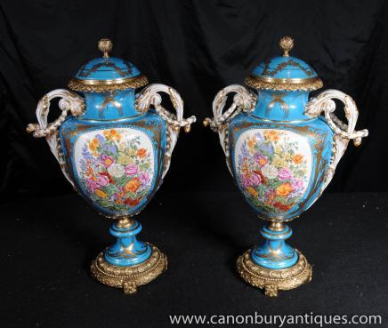 Chinese Nanking Porcelain Medallion Vase Urn Jar Pottery