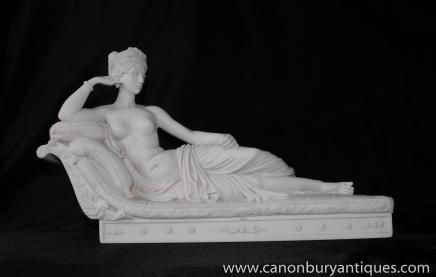 Italian Female Nude Stone Staue Venus Goddess of Love Roman Myth