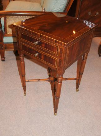 Regency Rosewood End Table Chest Nightstand Mahogany Furniture
