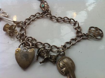 Antique Silver Charm Bracelet by Henry Griffiths & Sons