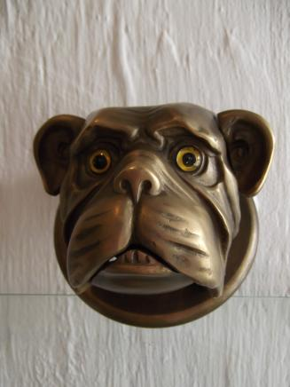 Brass Bull Dog Shop Counter Bell