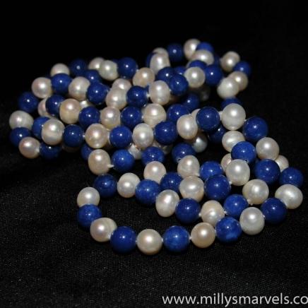 Lapis Lazuli & Freshwater Pearl Necklace