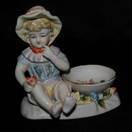 Pair German Meissen Children Sauce Holders