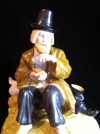 Porcelain Russian Tramp by Gardner of Moscow