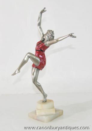 Art Deco Dancer Bronze Figurine by Colinet
